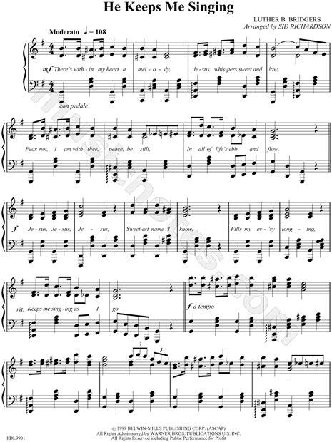 He Keeps Me Singing Advanced Piano Solo  music sheet