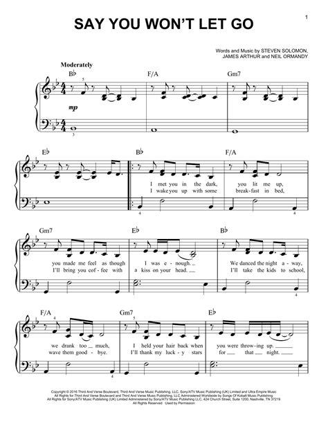 He Says Let Go  music sheet