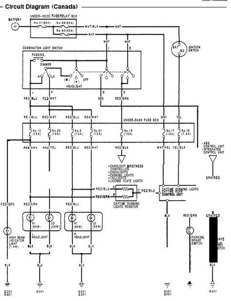97 civic headlight wiring diagram images 96 honda civic headlight wiring problem your online civic community