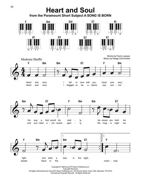Heart And Soul Easy  music sheet