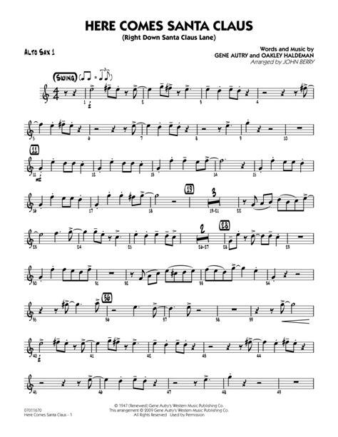 Here Comes Santa Claus Alto Sax  music sheet