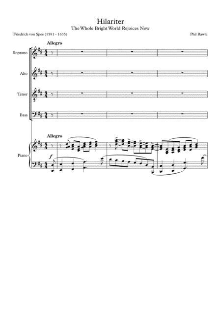 Hilariter The Whole Bright World  music sheet