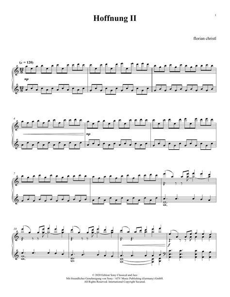 Hoffnung Ii  music sheet