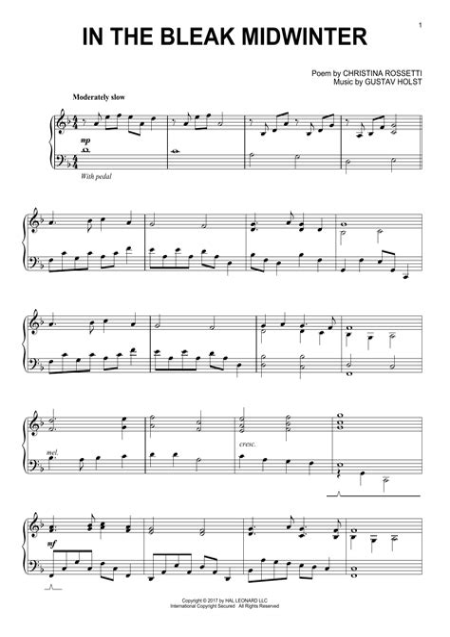 Holst In The Bleak Midwinter Mixed Woodwind Quartet  music sheet