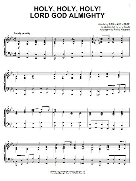 Holy Holy Holy Lord God Almighty  music sheet