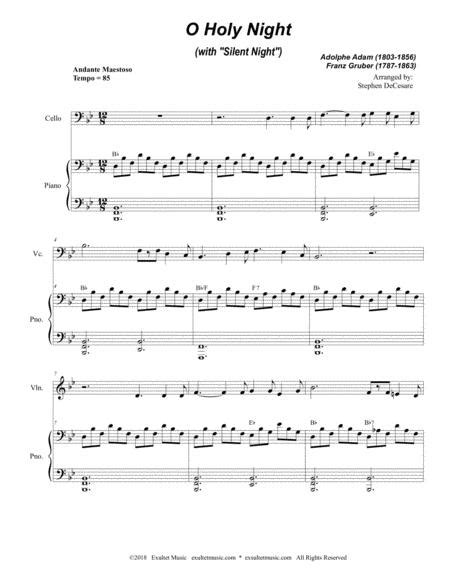holy holy holy violin and cello duet music sheet