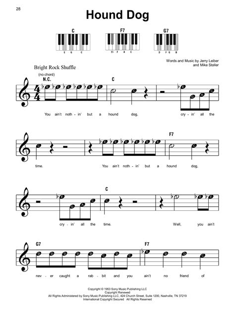 Hound Dog Guitar  music sheet