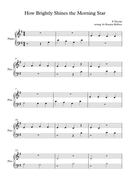 How Bright The Morning Star Does Shine  music sheet