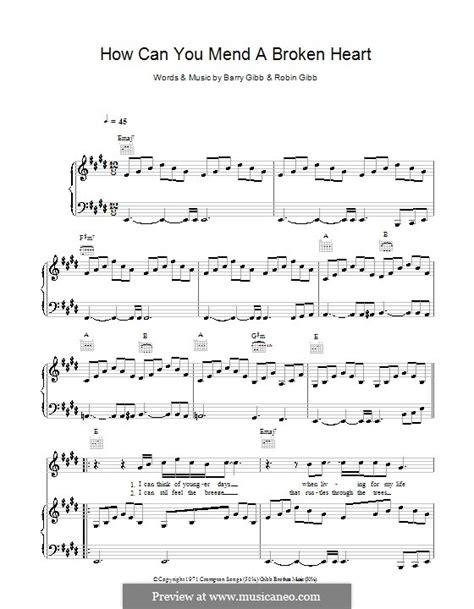 How Can You Mend A Broken Heart Barry Robin Gibb Brass Quintet Percussion music sheet