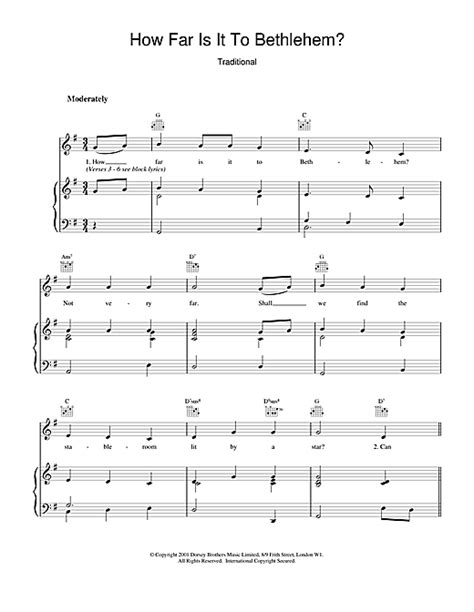 How Far Is It To Bethlehem Choral Version music sheet