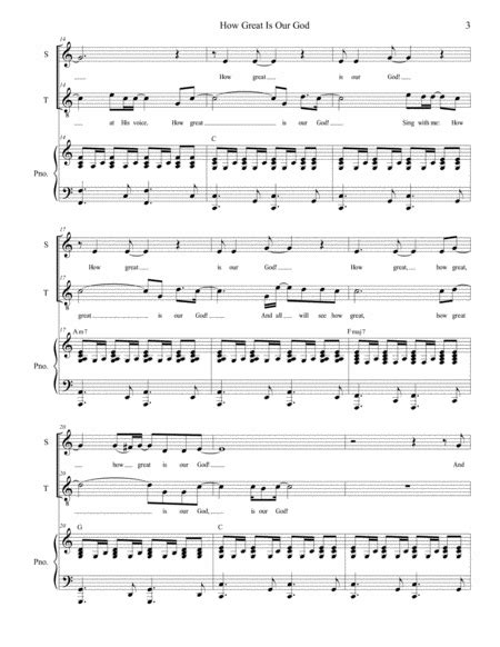 How Great Is Our God For 2 Part Choir Soprano And Tenor  music sheet