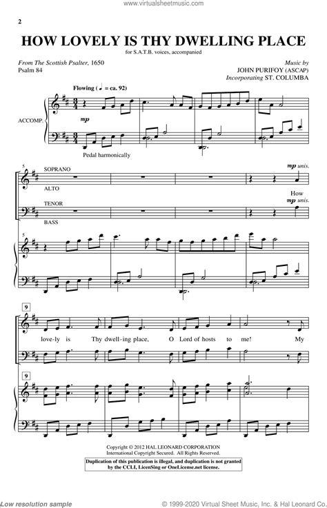 How Lovely Is Thy Dwelling Place For Flute Choir  music sheet