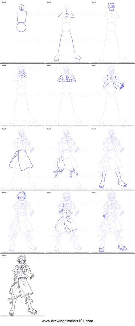how to draw fairy tail characters step by step drawing