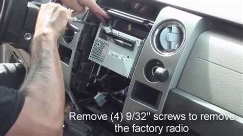 how to remove factory stereo ford f150 2009 and up YouTube