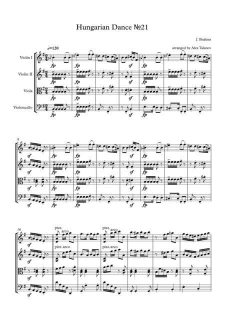 Hungarian Dance 21  music sheet