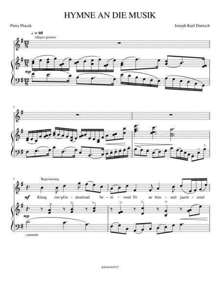 Hymne And Die Musik  music sheet