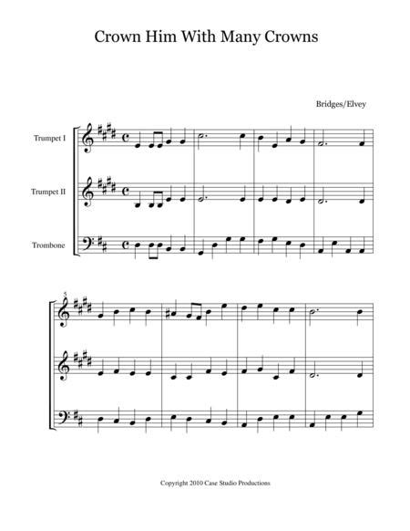 Hymns For Brass Trio Book Ii 2 Trumpets And Trombone  music sheet