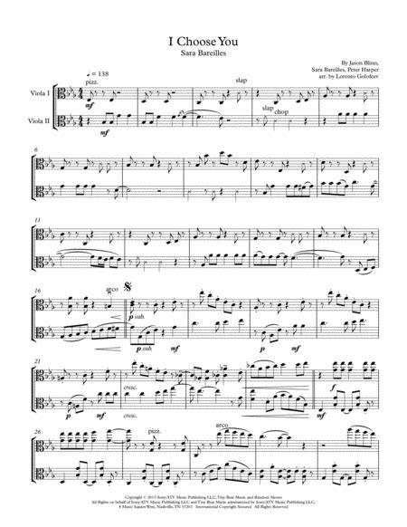 I Choose You Viola Duo  music sheet
