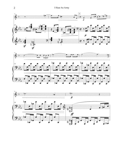 I Hear An Army For Piccolo Trumpet Solo  music sheet