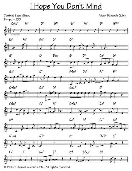 I Hope You Dont Mind  music sheet