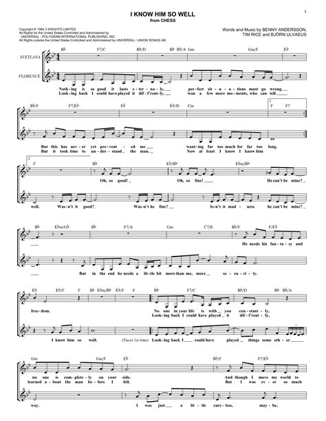 I Know Him So Well Duet For Two Violas  music sheet
