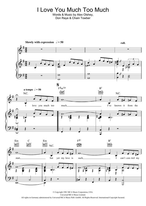 I Love You Much Too Much For Oboe And Piano Video  music sheet