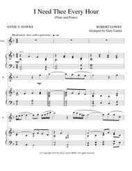 I Need Thee Every Hour Flute Solo With Piano And Flt Part  music sheet