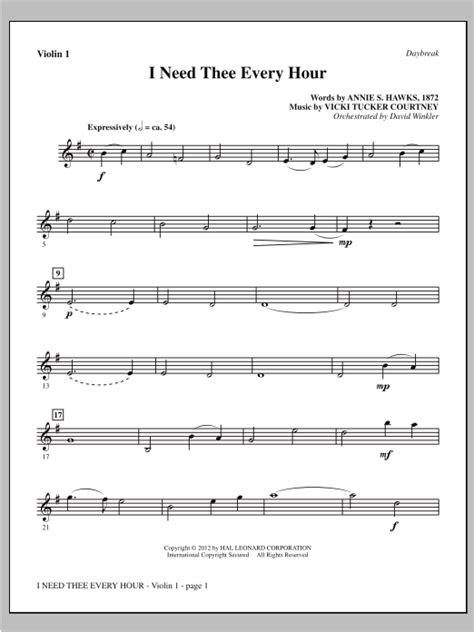 I Need Thee Every Hour Violin Piano Accompaniment  music sheet