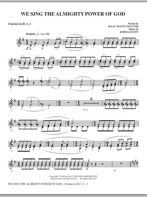 I Sing The Mighty Power Of God Arranged For Harp And Bb Clarinet  music sheet