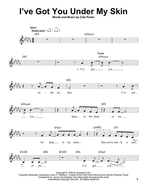 I Ve Got You Under My Skin Strings Electric Piano  music sheet