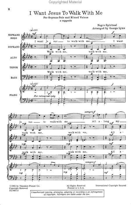 I Want Jesus To Walk With Me Rehearsal Track  music sheet