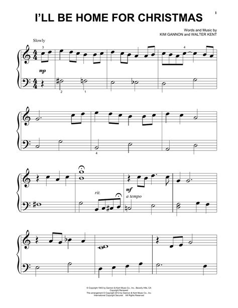 I Will Be Home For Christmas For Flute And Violin  music sheet