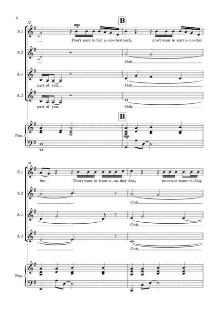 I Will Never Love Again Ssaa  music sheet