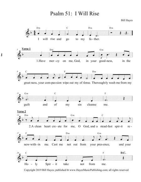 I Will Rise Ps 51 Octavo  music sheet