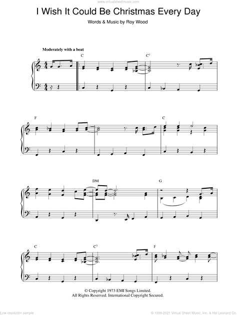 I Wish It Could Be Christmas Every Day Flute Quartet  music sheet
