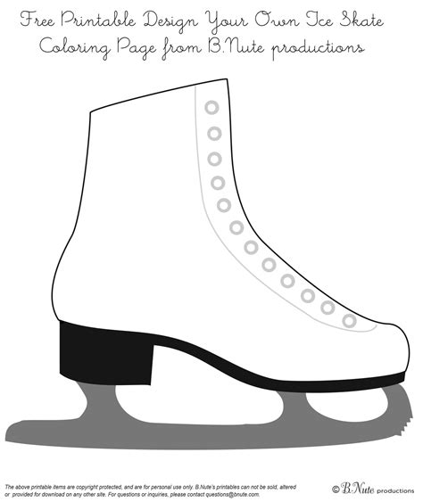 ice skating coloring page for kids Pinterest