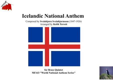 Icelandic National Anthem  Gu Vors Lands For Brass Quintet  music sheet