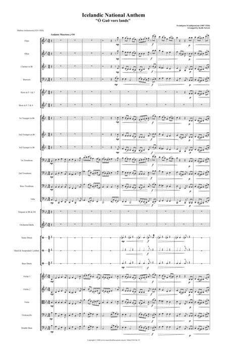 Icelandic National Anthem For Symphony Orchestra  music sheet