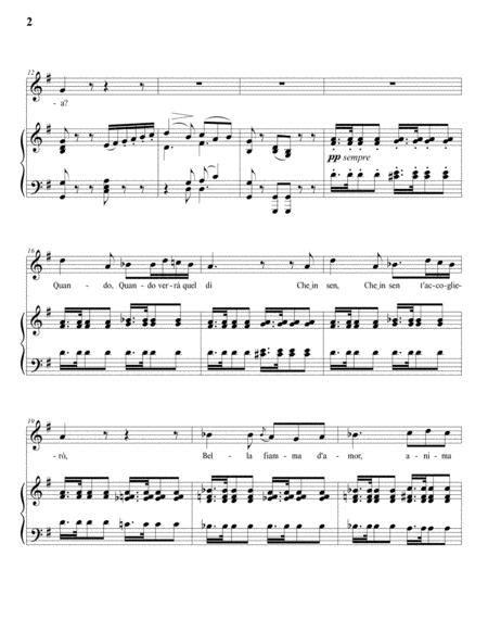 Il Fervido Desiderio G Major  music sheet