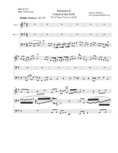 Immensa Et Una Trinitas Trio Ii  music sheet