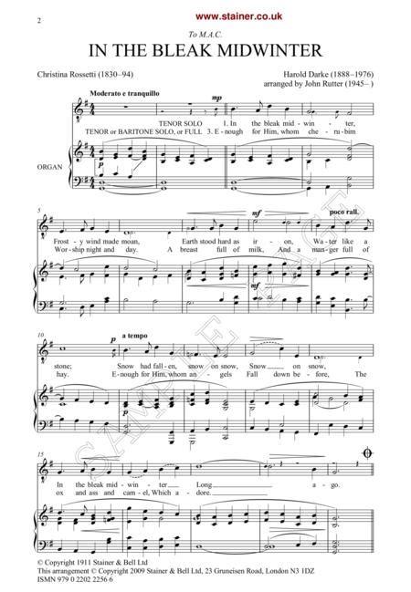 In The Bleak Midwinter Ttbb  music sheet