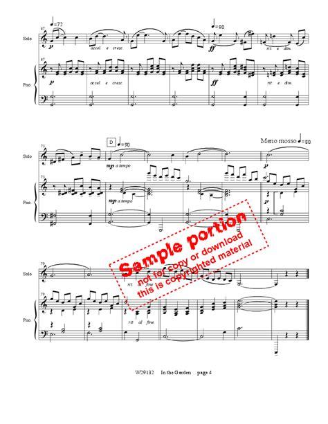 In The Garden Bassoon  music sheet