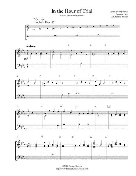 In The Hour Of Trial For 2 Octave Handbell Choir  music sheet