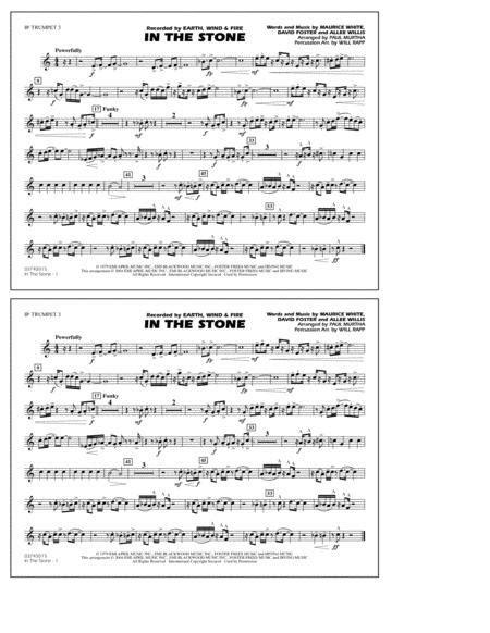 In The Stone Arr Paul Murtha 3rd Bb Trumpet  music sheet