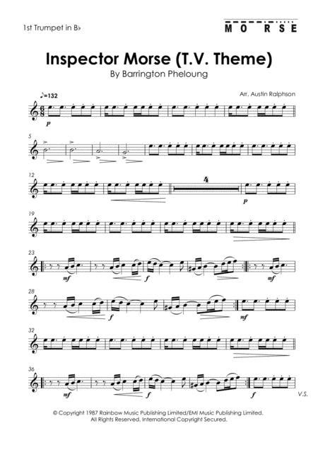 inspector morset v theme brass quintet music sheet