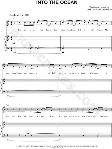 into the see music sheet