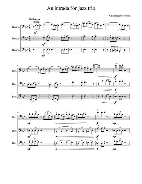 intrada bassoon quartet music sheet