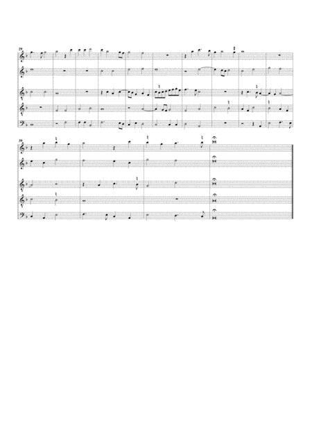 Inviolata Integra Et Casta Es Maria Arrangement For 5 Recorders  music sheet