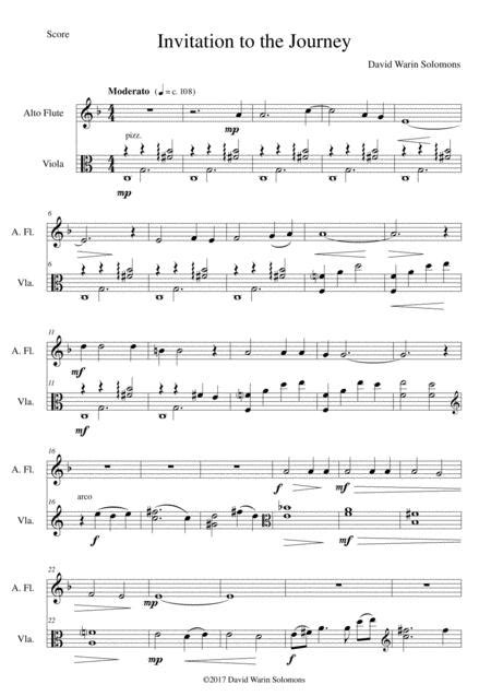 invitation au voyage invitation to the journey for flute and viola music sheet