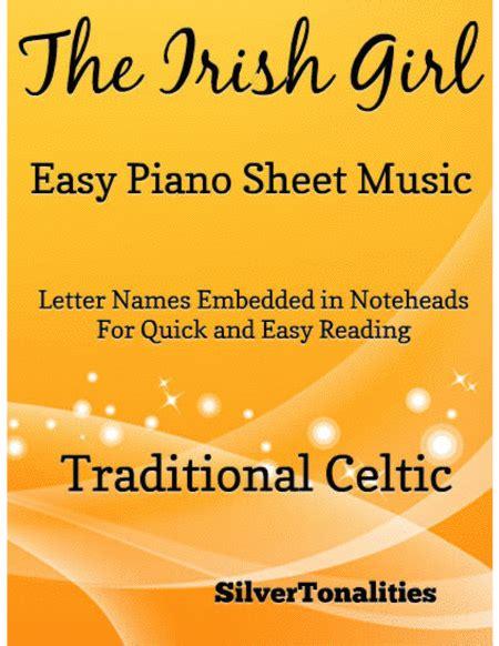 Irish Girl Easy Piano Sheet Music music sheet
